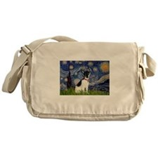 Starry Night & Toy Fox Terrie Messenger Bag