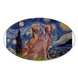 Starry Night Weimaraners Decal