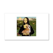 Mona and her Pembroke Corgi Car Magnet 20 x 12