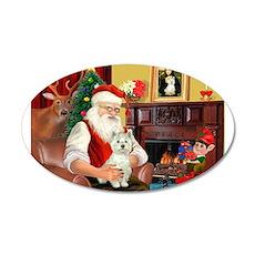 Santa's Westie 22x14 Oval Wall Peel