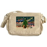 Xmas Magic & Yorki Messenger Bag