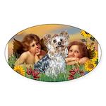 Angels with Yorkie Sticker (Oval 10 pk)