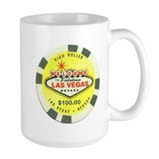 Las Vegas Yellow Poker Chip Mug
