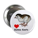 "Love Guinea Keets 2.25"" Button (100 pack)"
