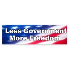 Less Government Bumper Bumper Sticker