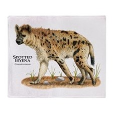 Spotted Hyena Throw Blanket