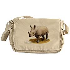 White Rhinoceros Messenger Bag