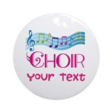 Cute Customized Choir Ornament (Round)