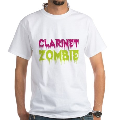 Clarinet Zombie White T-Shirt