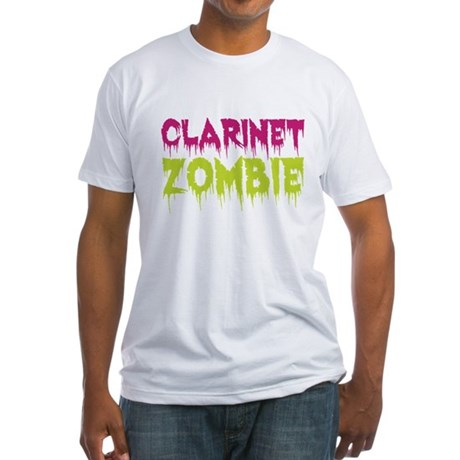 Clarinet Zombie Fitted T-Shirt