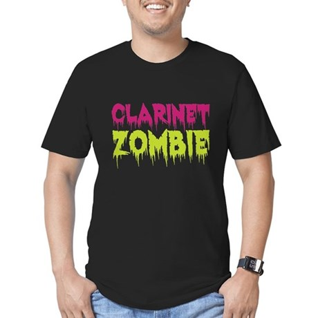 Clarinet Zombie Men's Fitted T-Shirt (dark)