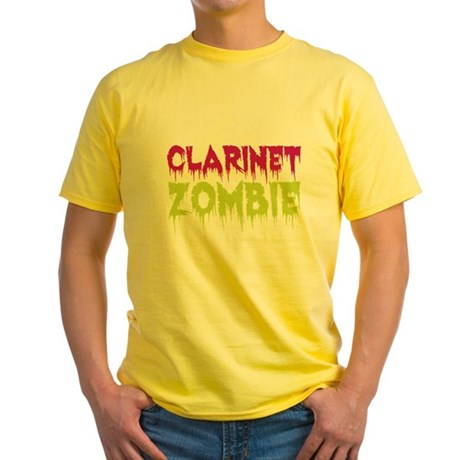 Clarinet Zombie Yellow T-Shirt