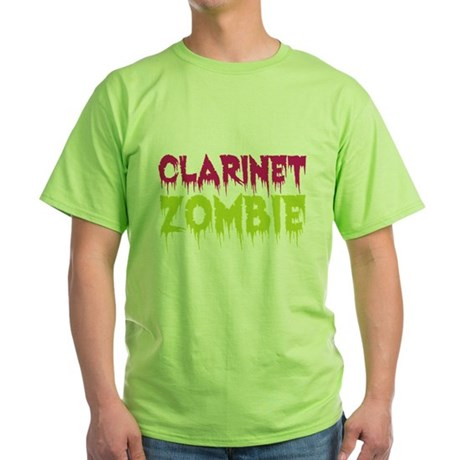 Clarinet Zombie Green T-Shirt