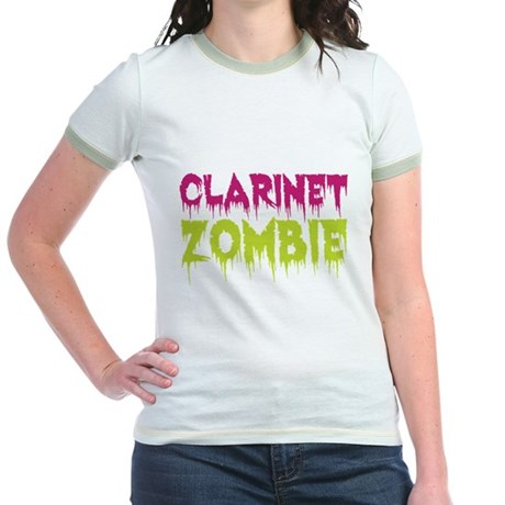 Clarinet Zombie Jr. Ringer T-Shirt