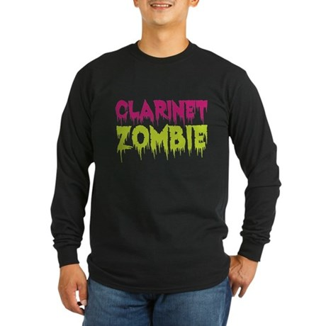 Clarinet Zombie Long Sleeve Dark T-Shirt