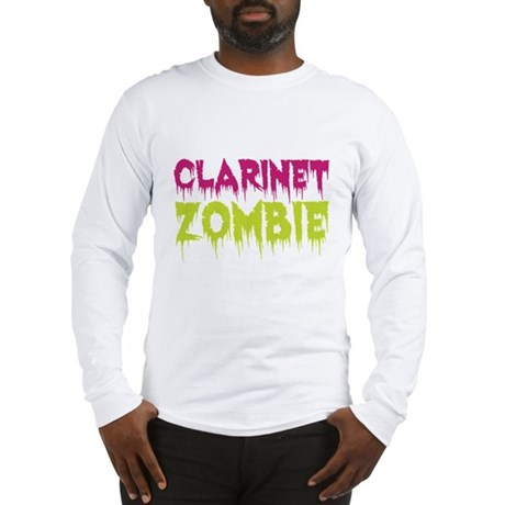 Clarinet Zombie Long Sleeve T-Shirt