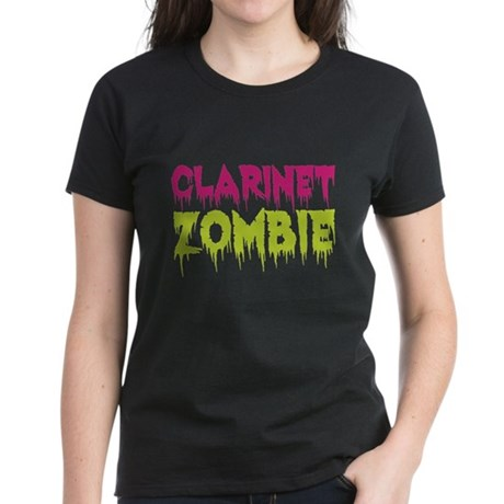 Clarinet Zombie Women's Dark T-Shirt