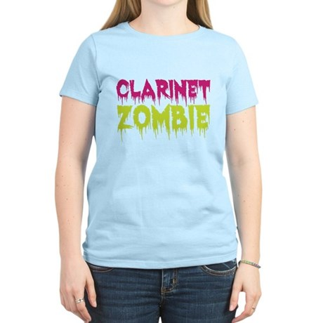 Clarinet Zombie Women's Light T-Shirt