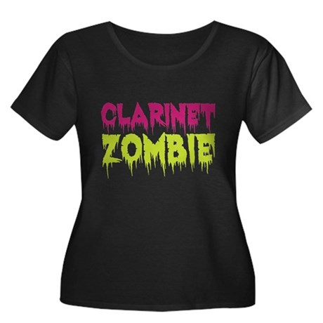 Clarinet Zombie Women's Plus Size Scoop Neck Dark
