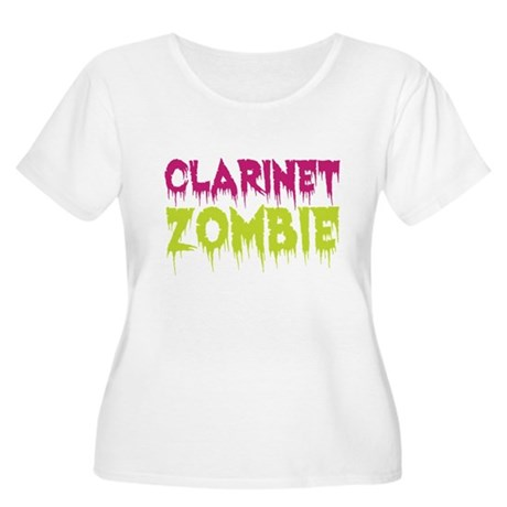 Clarinet Zombie Women's Plus Size Scoop Neck T-Shi
