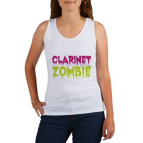 Clarinet Zombie Women's Tank Top