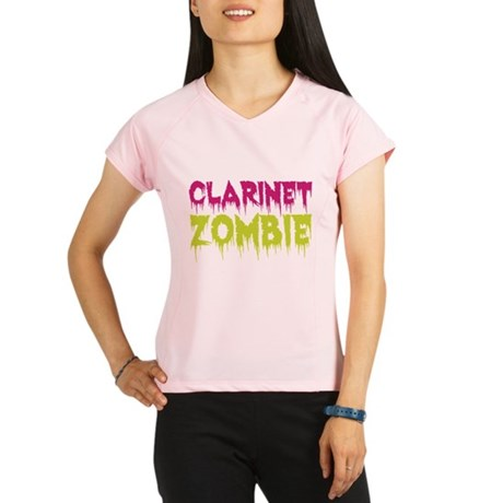 Clarinet Zombie Performance Dry T-Shirt