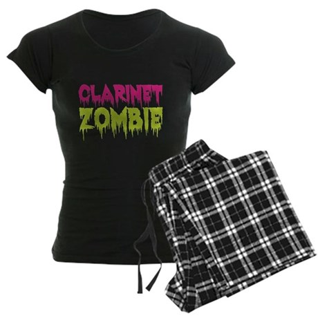 Clarinet Zombie Women's Dark Pajamas