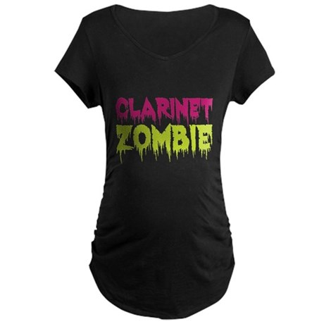 Clarinet Zombie Maternity Dark T-Shirt