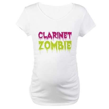 Clarinet Zombie Maternity T-Shirt