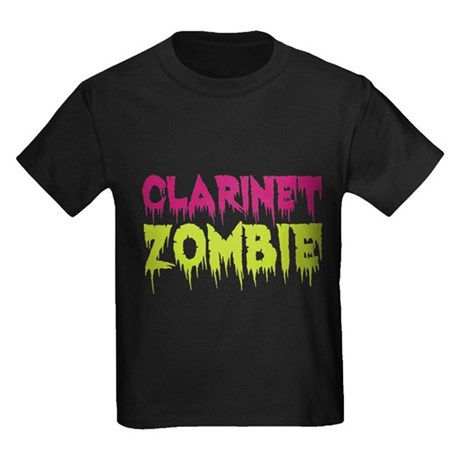 Clarinet Zombie Kids Dark T-Shirt