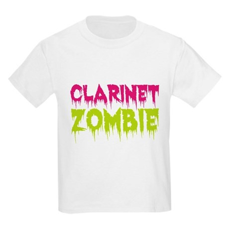 Clarinet Zombie Kids Light T-Shirt