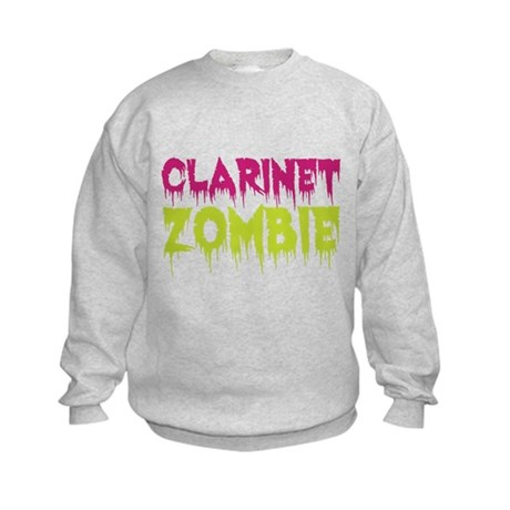 Clarinet Zombie Kids Sweatshirt