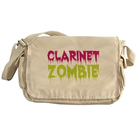 Clarinet Zombie Messenger Bag