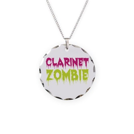 Clarinet Zombie Necklace Circle Charm