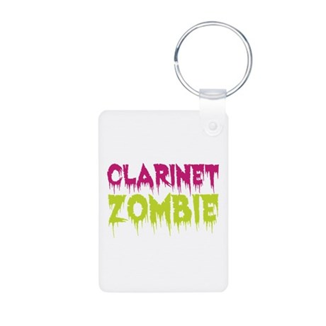 Clarinet Zombie Aluminum Photo Keychain