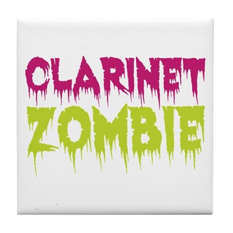 Clarinet Zombie Tile Coaster