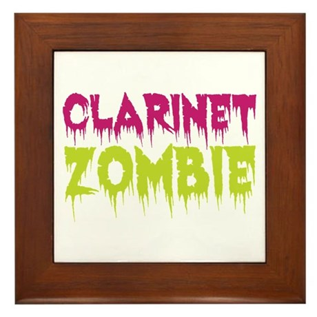 Clarinet Zombie Framed Tile
