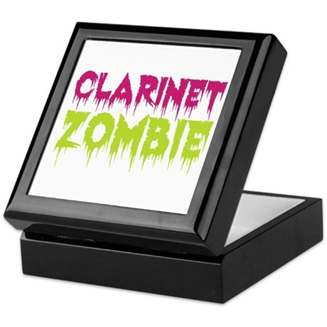 Clarinet Zombie Keepsake Box