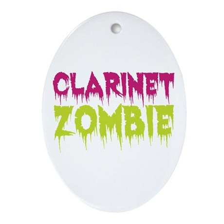 Clarinet Zombie Ornament (Oval)