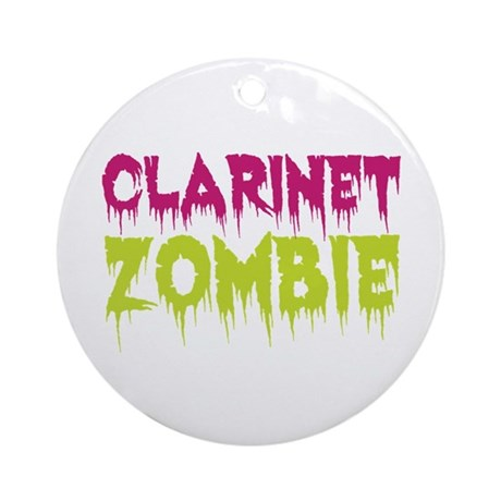 Clarinet Zombie Ornament (Round)