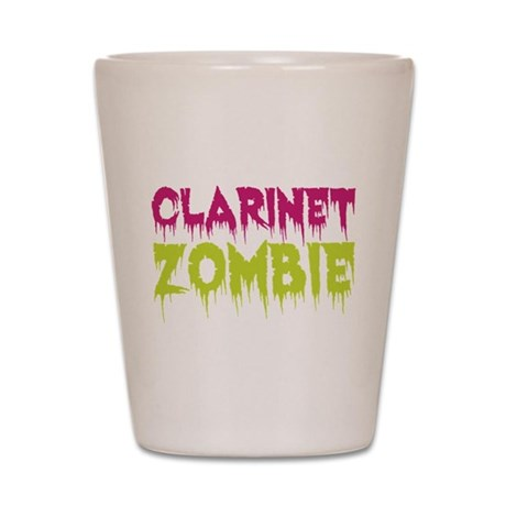 Clarinet Zombie Shot Glass