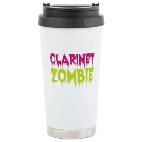 Clarinet Zombie Ceramic Travel Mug