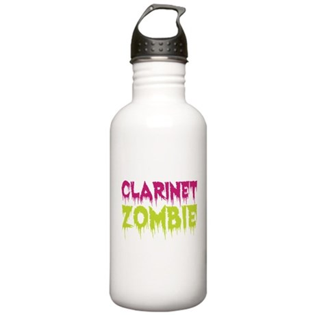 Clarinet Zombie Stainless Water Bottle 1.0L
