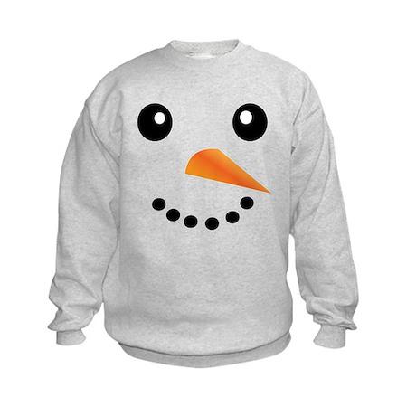 FROSTY SNOWMAN FACE Kids Sweatshirt