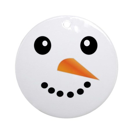 ... Gifts > Christmas Seasonal > FROSTY SNOWMAN FACE Ornament (Round