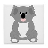 Koala Bear Design Tile Coaster
