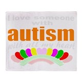I love someone with autism 3 Throw Blanket