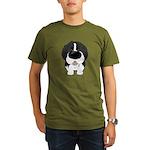 Big Nose Newfie Organic Men's T-Shirt (dark)
