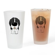 Big Nose Newfie Drinking Glass