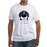 Big Nose Newfie Fitted T-Shirt